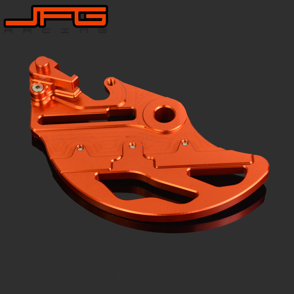 Motorcycle Rear Brake Disc Guard Protector For KTM EXC EXCF SX SXC XC XCF XCW SMR 125 150 200 250 300 350 400 450 500 525 530 billet cnc rear brake disc guard w caliper bracket for ktm 125 450 sx sx f smr xc xc f 2013 2014 2015 2016