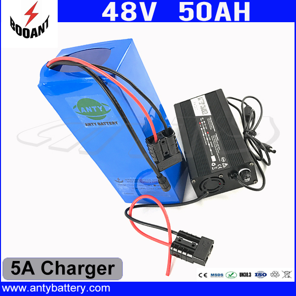 e-Bike Battery 48V 50Ah 1800W For Bafang Motor Electric Bicycle Battery 48V With 5A Charger 50A BMS Lithium Battery Pack 48V free customs taxes super power 1000w 48v li ion battery pack with 30a bms 48v 15ah lithium battery pack for panasonic cell