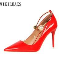 bigtree shoes designer wedding red extreme high heels sapato feminino scarpin tacones stiletto ladies pumps woman valentine shoe