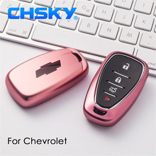 CHSKY Car Styling TPU Car Key Case Shell For Chevrolet Cruze Spark Sonic Camaro Volt Car key Cover Case Car Styling Accessories(China)