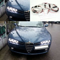For Alfa Romeo Brera Spider 2005-2010 Excellent 6 pcs smd led Angel Eyes Super bright 3528 SMD led Angel Eyes