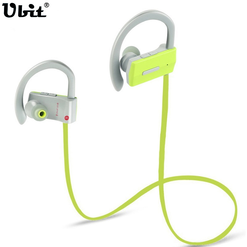 Ubit BH-05 Sports Bluetooth Earphone With MIC Ear Hook Earbuds Sweatproof Wireless Headphones Running Hifi Bass Stereo Earphones new fashion sweatproof wireless bluetooth v4 0 sports stereo headphones with mic ear hook earbuds earphones for iphone for sony