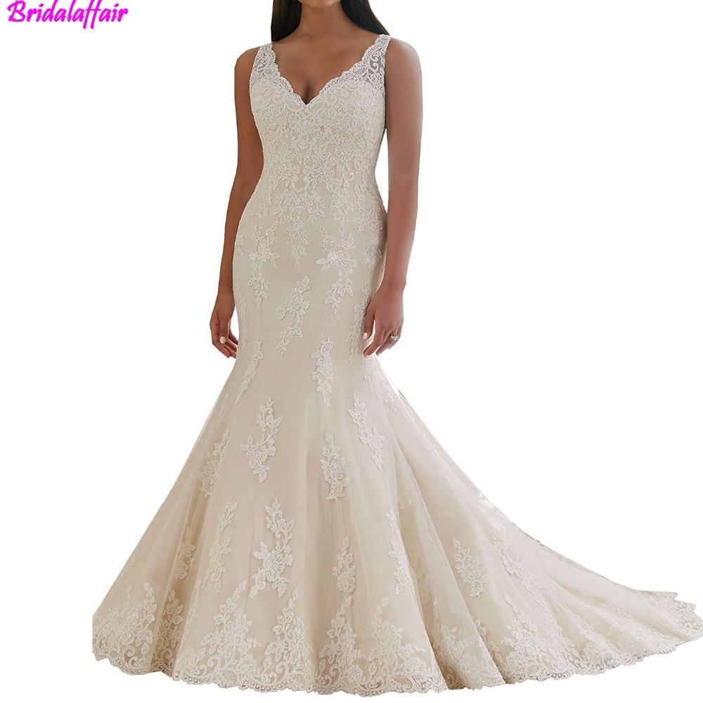 White Lace Mermaid Gown: Aliexpress.com : Buy White Mermaid Wedding Dresses