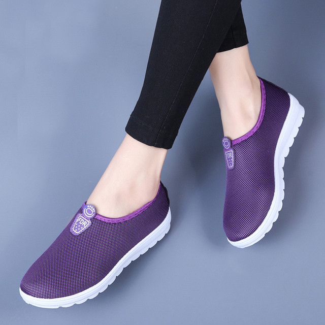 YOUYEDIAN 2019 Phụ Nữ Căn Hộ Giày Đi Bộ Phụ Nữ Căn Hộ Casual Shoes Trượt On Mềm Phụ Nữ Dưới Flat Giày Đế Giày