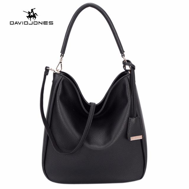 DAVIDJONES women messenger bags pu leather