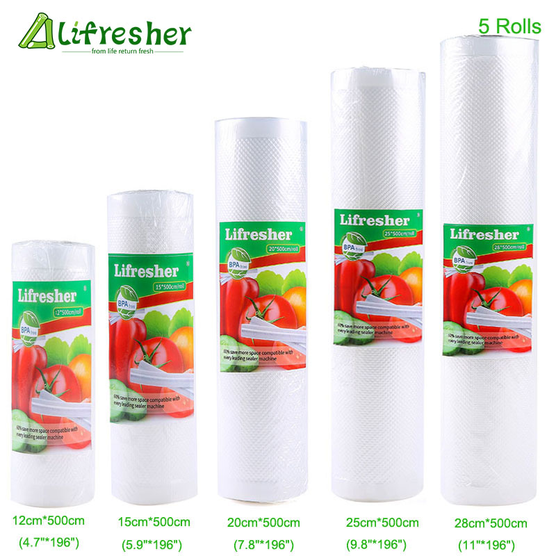 Lifresher Food Storage Saver Bags Vacuum Sealer Food Saver Bag 15 20 25 28 Vacuum Package