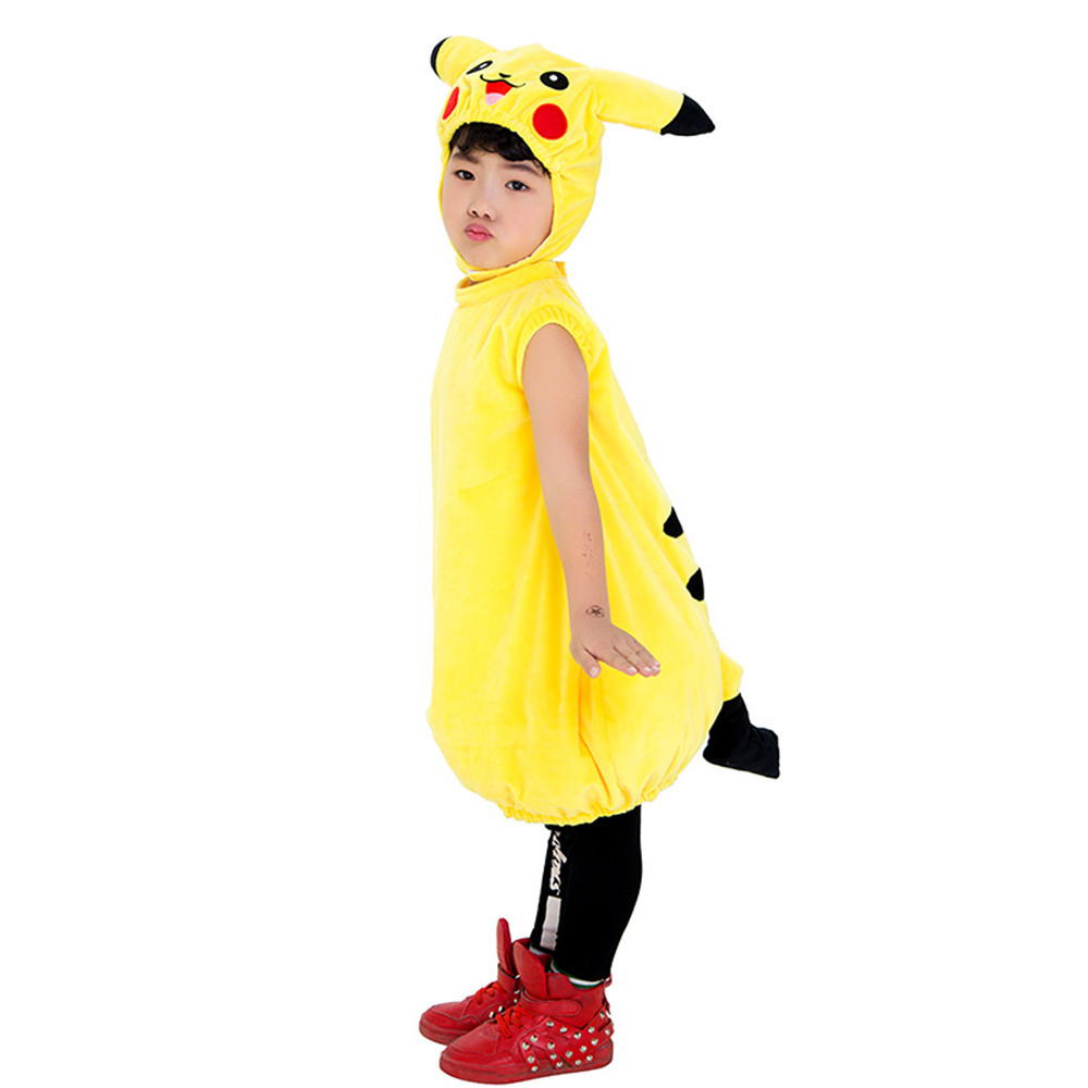 New lovely unisex  Children Pikachu Cosplay Halloween purim costume