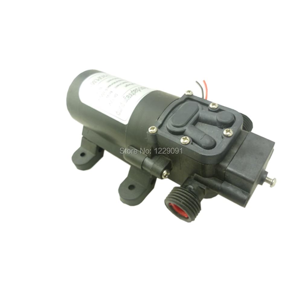 Return valve type 60W 5L/min mini diaphragm pump electric high pressure 24v 12v dc water pump home self priming pump