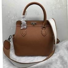 2017 Bolsa Feminina Genuine Leather Women Lock Handbag Shoulder Bag Crossbody Purse Messenger Toolbox Desiner Sac a main