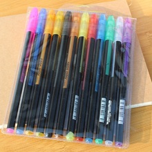 12 Color Gel Pen Set Refills Metallic Pastel Neon Glitter Sketch Drawing Color Pen School Stationery Marker for Kids Gifts delvtch 6pcs set 1 0mm color gel ink pen glitter highlighter fluorescent pen art marker pens painting drawing student staionery