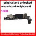 16 ГБ оригинальный материнская плата для iphone 4s разблокирована платы с чипами бесплатная iCloud IOS системные платы хорошем рабочем логическая плата