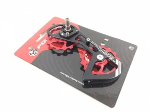 Fouriers CNC Road Bike Rear Derailleur Cage with Ceramics Bearing Pulley Up 15T-15T Drivetrain For 11 speed RD5800
