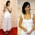 Sexy White Rihanna Dress Celebrity Dresses Floor Length Sexy Long Red Carpet Dresses