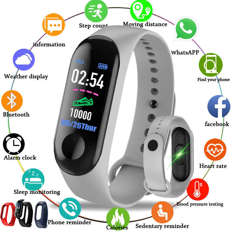 LIGE 2018 New smart sports Bracelet Women Smart Watch Men Heart Rate Blood Pressure Monitor Fitness Tracker Pedometer Watch+band