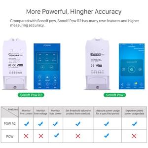 Image 4 - Itead Sonoff Pow R2 16A Wifi commutateur intelligent avec une plus grande précision moniteur consommation dénergie la mesure de puissance à domicile intelligente fonctionne avec Alexa