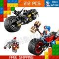 212 unids batman vs superman 07032 ciclo de gotham city chase diy bloques de construcción compatibles con lego