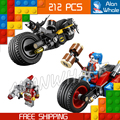 212pcs Batman vs Superman 07032 Gotham City Cycle Chase DIY Building Blocks  Compatible with Lego