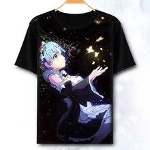 60f27f40e4c32 [XHTWCY] Anime Re: Hayat gelen farklı bir dünya sıfır Rem Emilia kawaii  Örgü T-Shirt çünkü erkekler kadınlar erkek kız Unisex Co.