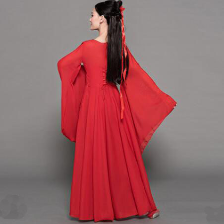 1a9ae502d9615 Classical Dance Costumes Female Elegant Chinese Style Cool Beautiful Ancient  Fairy Improved Hanfu Dress Adult ZO834 | shopdropgecko