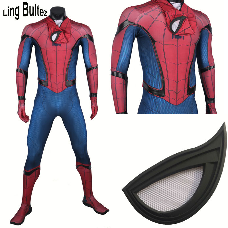 Ling Bultez High Quality New Captain America Spiderman Cosplay Costume Civil War Spider Man Suit Tom