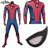 Ling Bultez Высокое качество Новый Капитан Америка человек паук косплей костюм гражданская война Человек паук костюм том Холланд Человек паук к