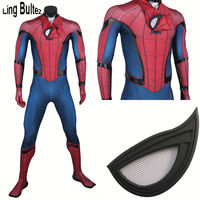 Ling Bultez High Quality New Captain America Spiderman Cosplay Costume Civil War Spider Man Suit Tom Holland Spiderman Costume