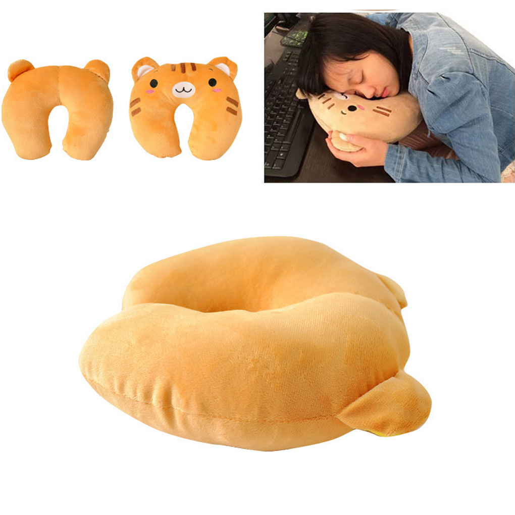 Animal Shaped Massage Pillow : Hot sale 9 styles u-shaped plush pillow travel pillow cartoon animal car headrest doll