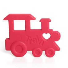Baby Silicone Teething Teether Toys BPA-Free Train Toy for Baby Kids Boys Girls
