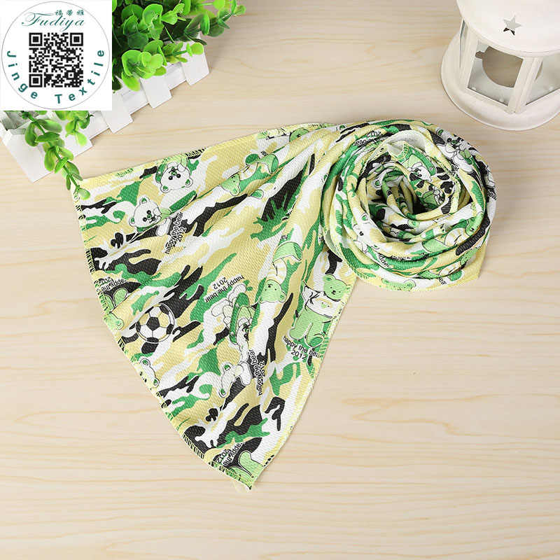 Hot 3 Colors New Carton Printed Ice Towel Utility Enduring Instant Cooling Towel Heat Relief Reusable Chill Cool Towel