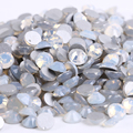 ss12 (3.0-3.2mm) White Opal Non-hotfix Rhinestones, 1440pcs/Lot, Flat Back Nail Art Glue On Crystal Stones