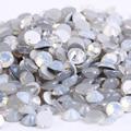 ss12 (3.0-3.2mm) White Opal Non-hotfix Rhinestones, 1440pcs/Lot, Flat Back Nail Art Glue On Crystal Stones