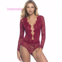 Plus Size 5XL Babydoll Sleepwear Women Sexy Lingerie Deep V Neck Suits Nightwear Underwear Erotic Lingerie