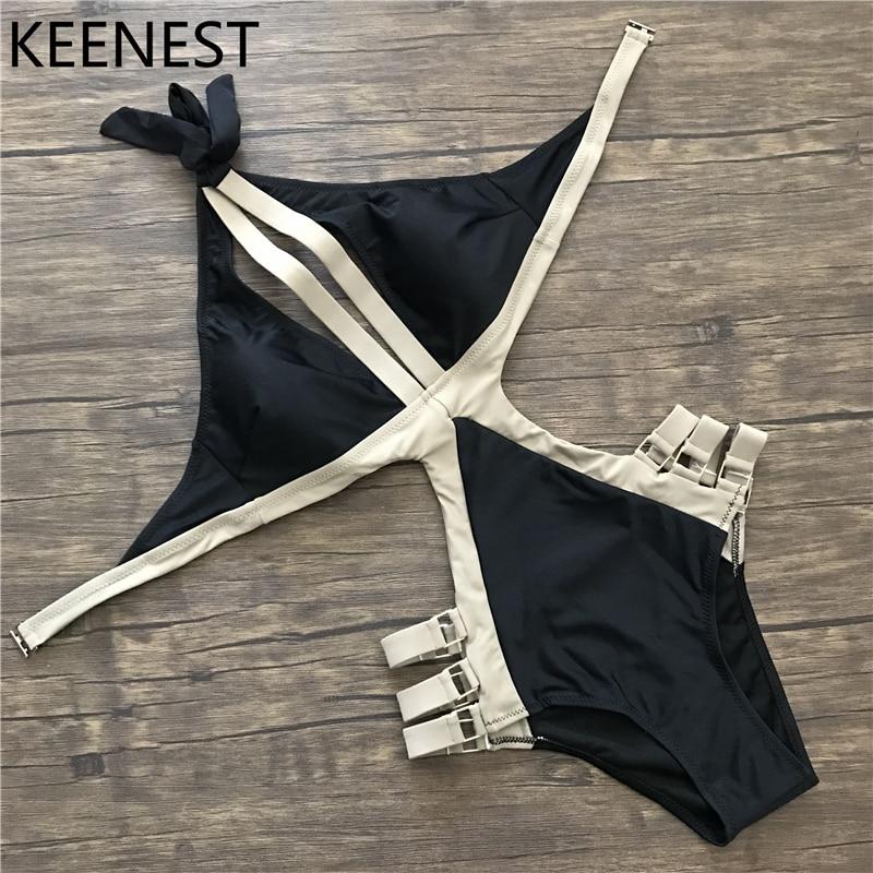 PLUS VIF D'une Seule Pièce Maillot de Bain Plus La Taille Maillots De Bain Femmes Brésilien Bandage Sexy V Profond Beachwear Monokini