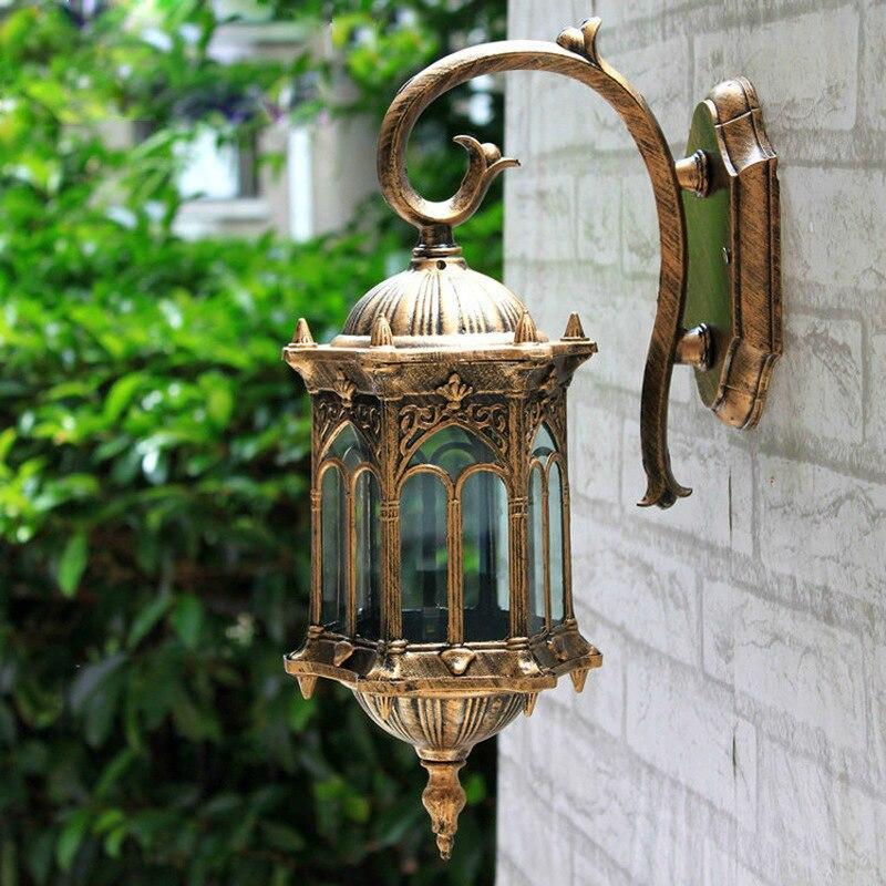 European retro wall lamp outdoor balcony courtyard gazebo corridor wall lamp restaurant antique decoration wall lamp lw517305py