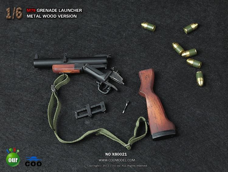 1/6 M79 Metal Woode Gun Model Grenade Launcher Weapon Model For Action Figure Accessories Collections 1 6 soldier action figure the dark zone agent renegad with weapon model accessories full set collections