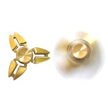 2017 Hand Spinner Brass Fidget Spinner And DHD Adults Kids Toy Cool Gold Tri-Spinner Fidget Toys