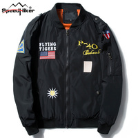Speed Hiker Men S Jacket Spring Autumn Male Army Green Military Motorcycle Flight Jacket Pilot Air
