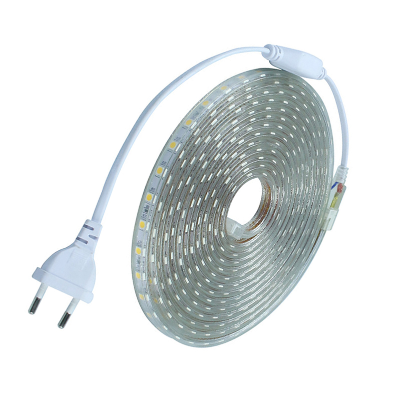 Waterproof SMD5050 led tape AC220V flexis