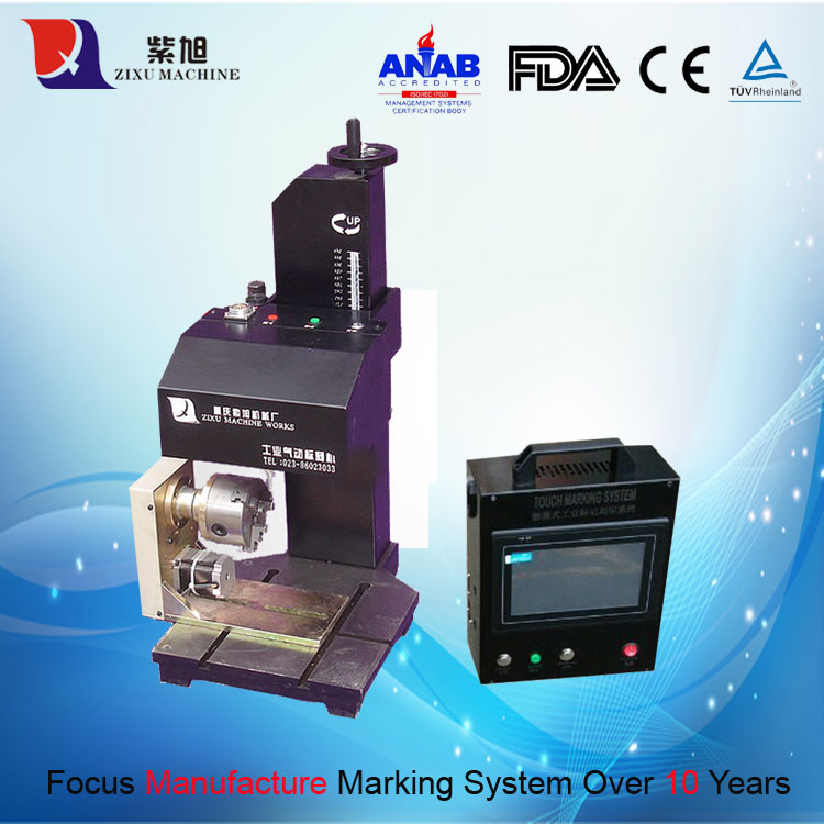 CNC Pneumatic Rotary Engraving Machine Marking on Metal cheap metal cnc pneumatic marking machine spare parts