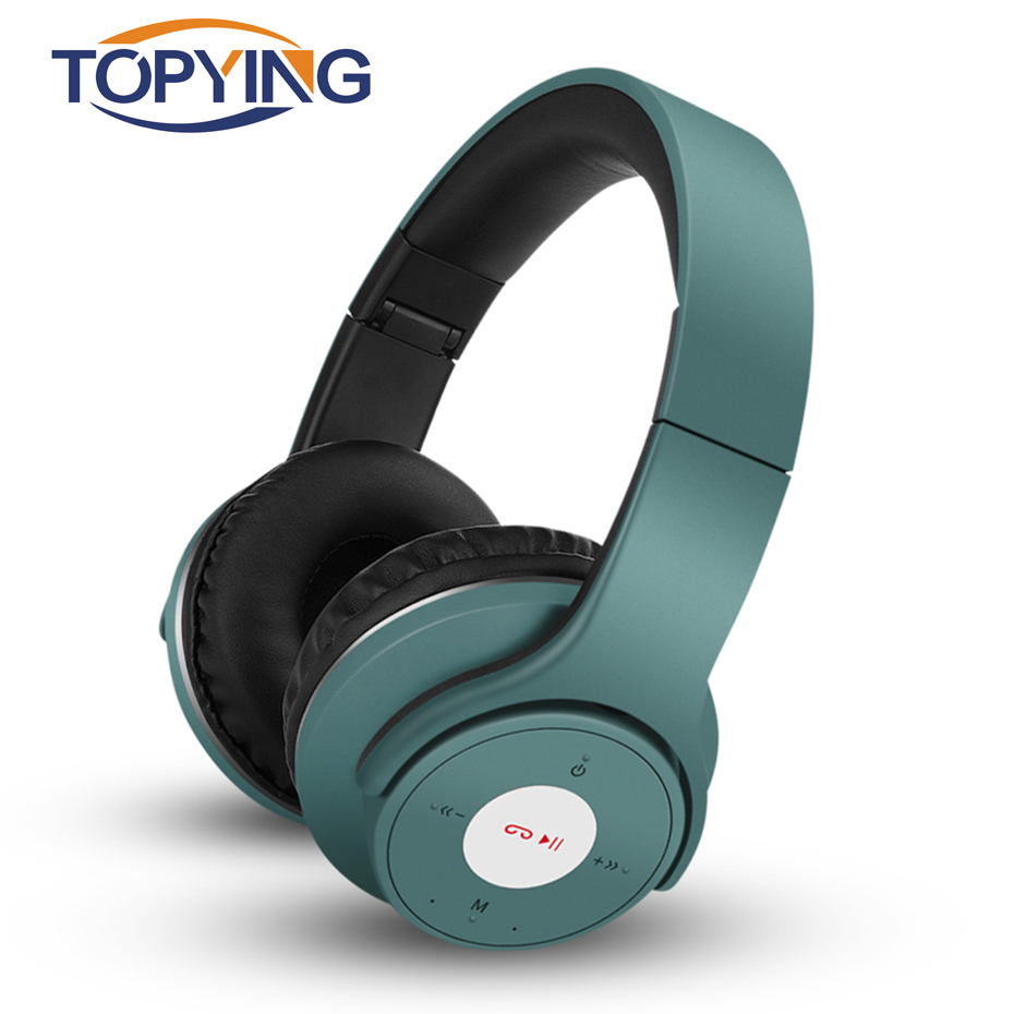 TOPYING Bluetooth Headphone With Memory Card Headphone For Sport Mp3 Player Folding Headphone Wireless Bluetooth 4.2 Earpiece