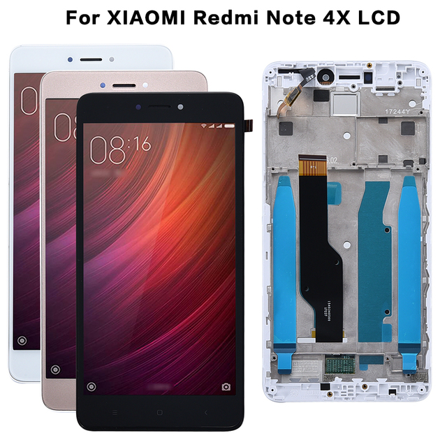 AAA Quality LCD+Frame For Xiaomi Redmi Note 4X LCD Display Screen For Redmi Note 4 Global Version LCD Only For Snapdragon 625