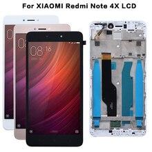 Xiaomi redmi 용 aaa 품질 lcd + 프레임 redmi note 4 용 4x lcd 디스플레이 화면 snapdragon 625 전용 글로벌 버전 lcd