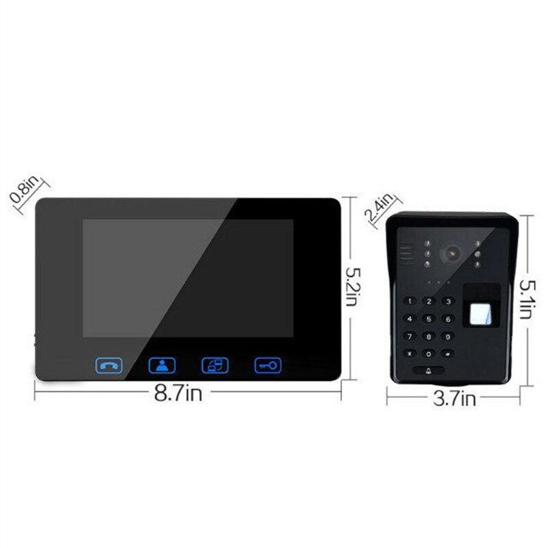 wired fingerprint video doorphone7