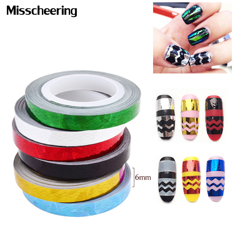 Aliexpress.com : Buy 1pcs Hot Wave Shape Nail Striping