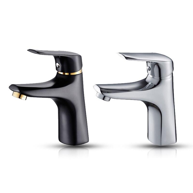 Robinets de lavabo pour salle de bain robinets à poignée unique robinet d'évier d'eau chaude et froide mélangeur d'eau chaude et froide robinet de lavabo de cuisine en cuivre monté sur pont