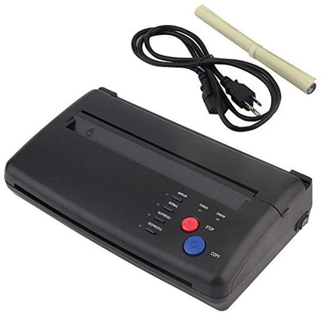 Máquina de transferencia de tatuajes impresora de dibujo de plantilla térmica copiadora para la máquina de maquillaje permanente de suministro de papel de transferencia de tatuajes