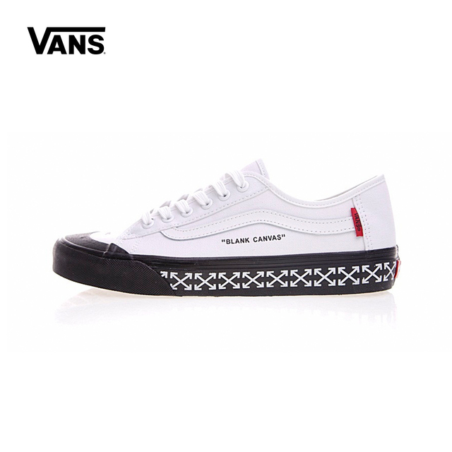 4381e586f8 Vans Men   Women s Classic Old Skool X OFF-WHITE Low Top Sports  Skateboarding Shoes Lover s Sneakers Canvas VN000D3HY2018