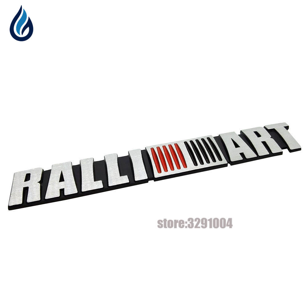 Car Styling Ralliart Aluminum Emblem Trunk Decal Stickers For Mitsubishi Asx Lancer Pajero Outlander L200 Delica Eclipse Galant
