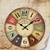 F080 Vogue To Live In The Sitting Room Adornment Nostalgia Retro Bracket Clock Wooden Clock