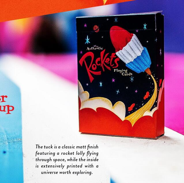 1 Deck Rockets Playing Cards Flower Cut Playing Cards Cheat Magic Marked Poker For Table Games